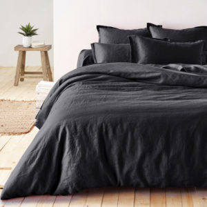dark grey bed linen set