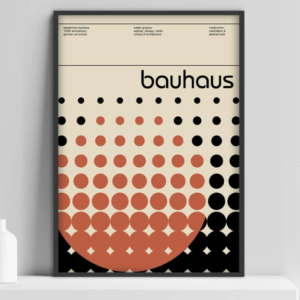framed poster of bauhaus art