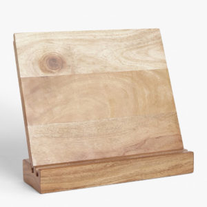 acacia wood cookbook or tablet stand